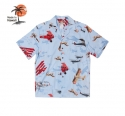 로버트제이씨 하와이(ROBERT J.C HAWAII) Robert J.C Hawaii - 250.845 Hawaii Shirts [Blue]