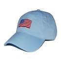 SMATHERS AND BRANSON - American Flag Needlepoint Hat [Sky Blue]