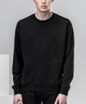 지플리시(ZPLISH) 16EMBO SWEATSHIRT(BK)