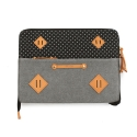 팩큰롤(PACKNROLL) [팩큰롤]ONEDAY CLUTCH (Grey Dot)