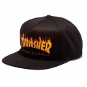 쓰레셔(THRASHER) Flame Logo Structured Snapback - Black