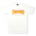 쓰레셔(THRASHER) Flame Tee - White