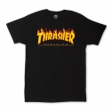 쓰레셔(THRASHER) Flame Tee - Black