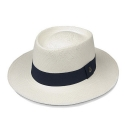 에콴디노 햇(ECUA-ANDINO HATS) Ecua-Andino - Dumont [White] [Dark Navy Band]