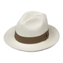 에콴디노 햇(ECUA-ANDINO HATS) Ecua-Andino - Panama Classic [White] [Light Brown Band]