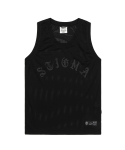 스티그마(STIGMA) LOGO MESH SLEEVELESS BLACK