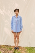 클로징멘트(CLOSINGMENT) [closingment] womens pajama set - blue