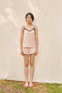 클로징멘트(CLOSINGMENT) [closingment] color blocked camisole set - rose quartz