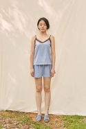 클로징멘트(CLOSINGMENT) [closingment] color blocked camisole set - serenity