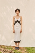 클로징멘트(CLOSINGMENT) [closingment] viscose rayon slip dress - white