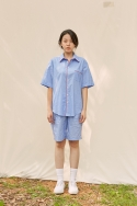 클로징멘트(CLOSINGMENT) [closingment] mens pajama set - blue