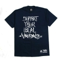 유에스에이 머친다이징(U.S.A MERCHANDISING) U.S.A MERCHANDISING OLD ENGLISH VANDALS SUPPORT YOUR LOCAL VANDAL S/S (BLUE)