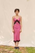 클로징멘트(CLOSINGMENT) [closingment] viscose rayon slip dress - hot pink
