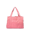 몽슈슈(MONCHOUCHOU) Canvas Tote Bag-Pink