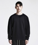 디프리크(D.PRIQUE) OVERSIZED SWEATSHIRT (BLACK)