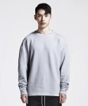 디프리크(D.PRIQUE) OVERSIZED SWEATSHIRT (LIGHT GREY/WASHED)