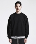 디프리크(D.PRIQUE) SIDE ZIP SWEATSHIRT (BLACK)