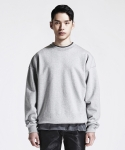 디프리크(D.PRIQUE) SIDE ZIP SWEATSHIRT (GREY)
