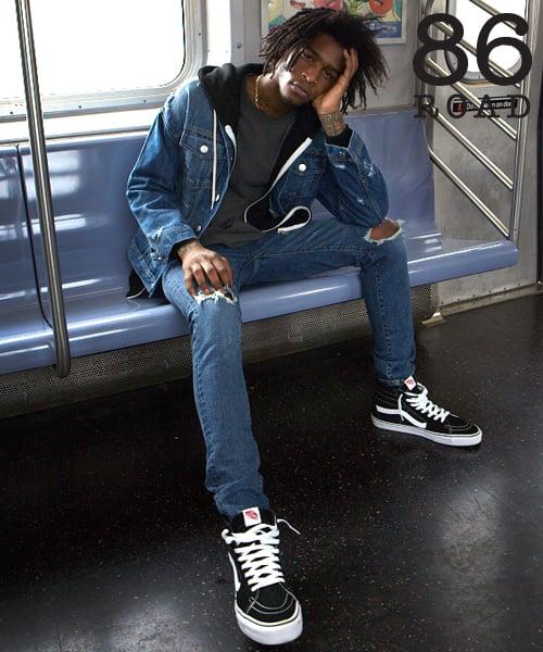 86로드_86RJ-1643 Open damage SAKAMOTO jeans