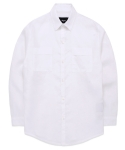 스와인즈() Pure Linen Utility jacket shirts white
