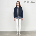 메케나(MEKENNA) MeKENNA Layered vest zip up jacquard jumper_MX2Y3JK0050
