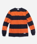 커버낫(COVERNAT) L/S WIDE STRIPE T-SHIRTS ORANGE
