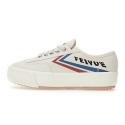 페이유에(FEIYUE) [FEIYUE 페이유에]PLAIN PLATFORM / ECRU BLUE RED / F20229W