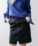 메리먼트(MERRIMENT) STITCH SKIRT (BLACK)