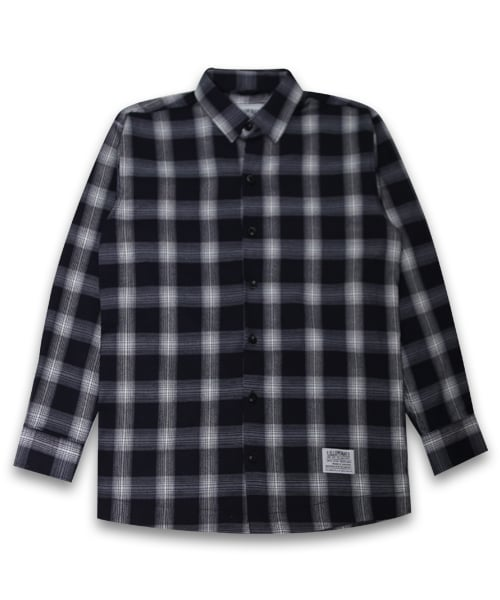 필루미네이트_Unisex Saint Check Shirt-Navy