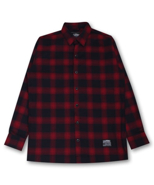 필루미네이트_Unisex Saint Check Shirt-Red
