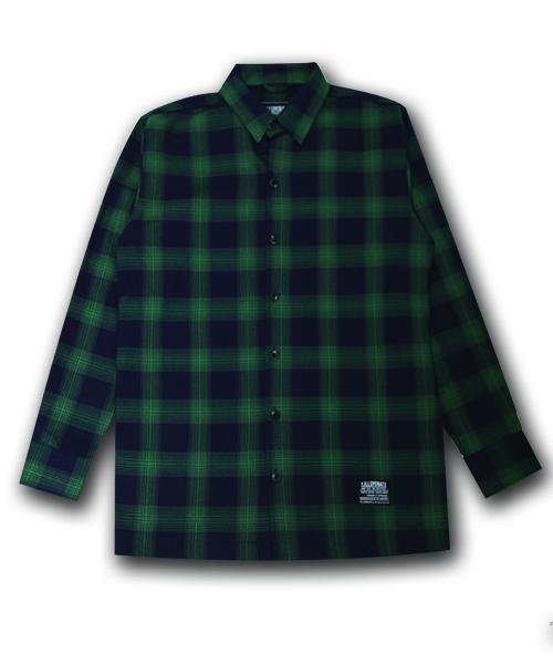 필루미네이트_Unisex Saint Check Shirt-Green