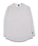 필루미네이트(FILLUMINATE) Unisex Basic Round Long Tee-Grey