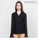 메케나(MEKENNA) MeKENNA accordion pleated sleeve blouse_MX2Y3BL0020