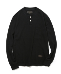 유니폼브릿지(UNIFORM BRIDGE) 10s L/S henley neck pocket tee black