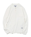 유니폼브릿지(UNIFORM BRIDGE) 10s L/S henley neck pocket tee off white