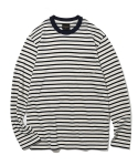유니폼브릿지(UNIFORM BRIDGE) 16aw L/S stripe crew neck tee ivory
