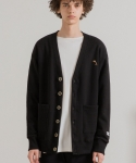 미나브() [UNISEX] TOUCAN LOGO CARDIGAN BLACK