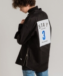 미나브(MINAV) [UNISEX] STAY LOGO SHRIT-JACKET BLACK