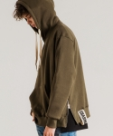 미나브(MINAV) [UNISEX] SIDE ZIPPER TAPE HOOD KHAKI