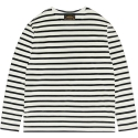 모디파이드() M#1011 boatneck stripe t-shirt (off white/black)