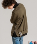 미나브(MINAV) [UNISEX] SIDE ZIPPER TAPE MTM KHAKI