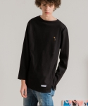 미나브(MINAV) [UNISEX] TOUCAN BASIC LONG T-SHIRT BLACK