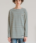 미나브(MINAV) [UNISEX] TOUCAN STRIPE LONG T-SHIRT GREEN