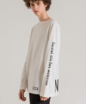 미나브(MINAV) [UNISEX] PRINT BASIC LONG T-SHIRT WHITE