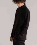 [UNISEX] BASIC LAYERED TURTLENECK BLACK