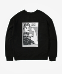레이어 유니온(LAYER UNION) CARTOON YC SWEATSHIRTS BLACK