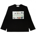 르반(LEVARN) GRAPHIC LONG SLEEVE_BLACK