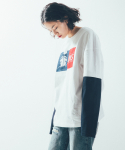 BLOCK LAYERED T SHIRT(white)