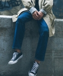 유니스디자인() PATCH DENIM PANTS(dark blue)