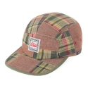 MADRAS CAMP CAP-PINK MIX